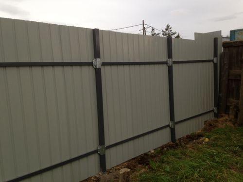 Забор из профнастила своими руками без сварки видео