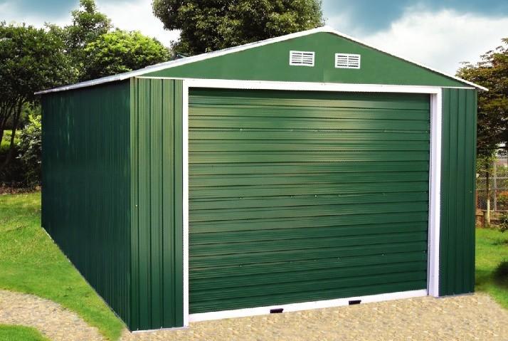 Как построить гараж своими руками с профнастила 35