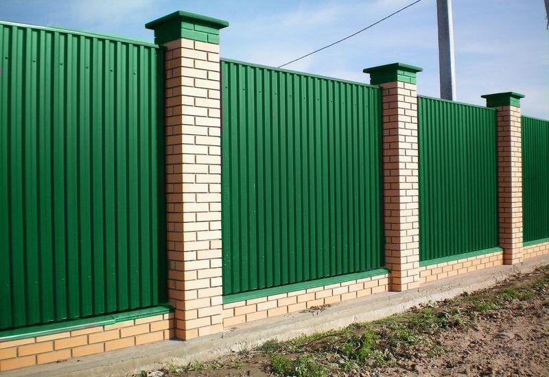 Как построить забор из профнастила своими руками фото 322
