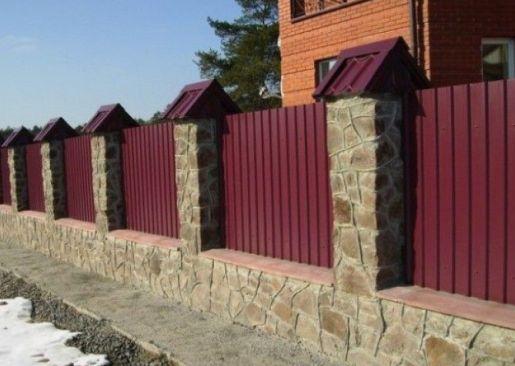 Как построить забор из профнастила своими руками фото 785